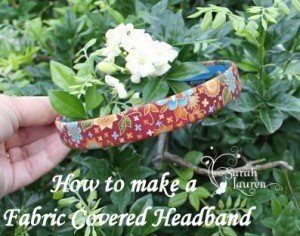 Fabric Covered Headband - Finished